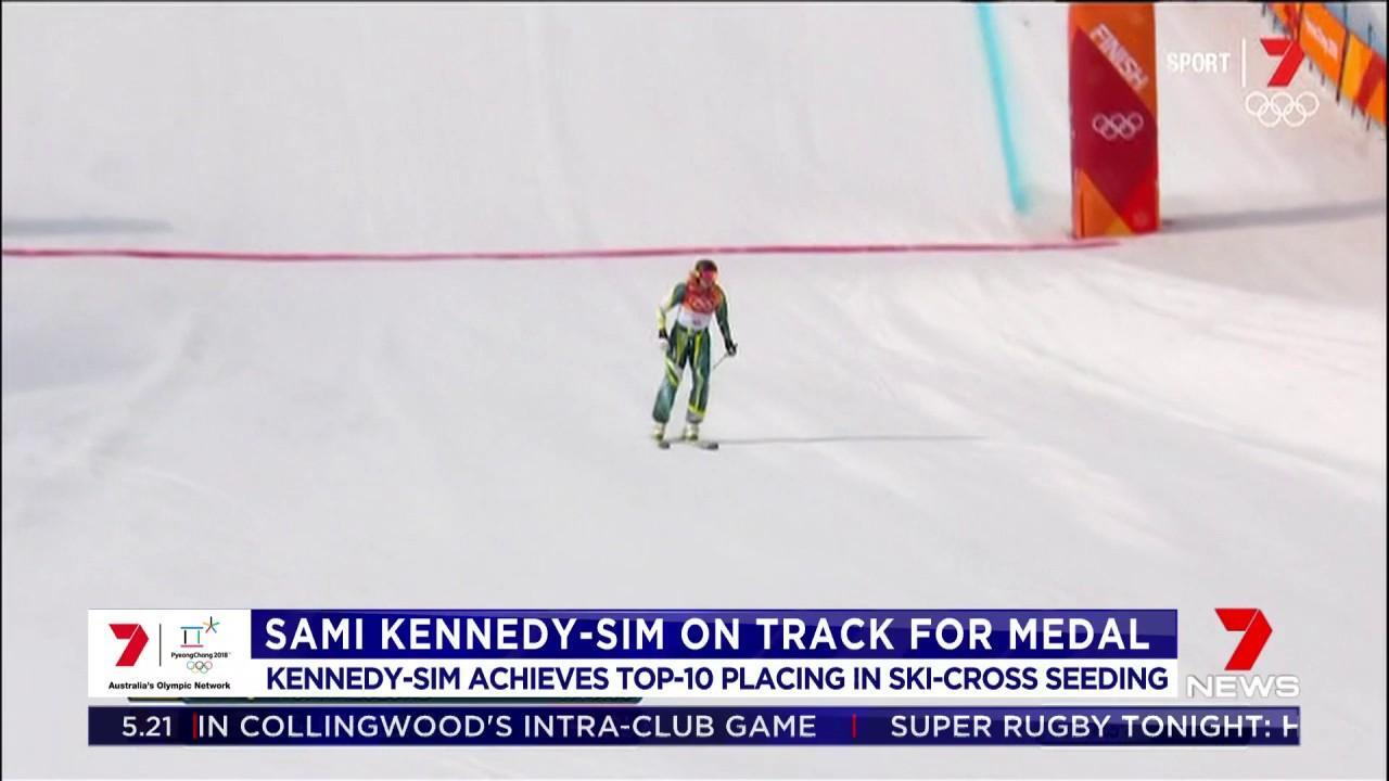 Kennedy-Sim achieved a top-10 placing in the Ski-cross seeding