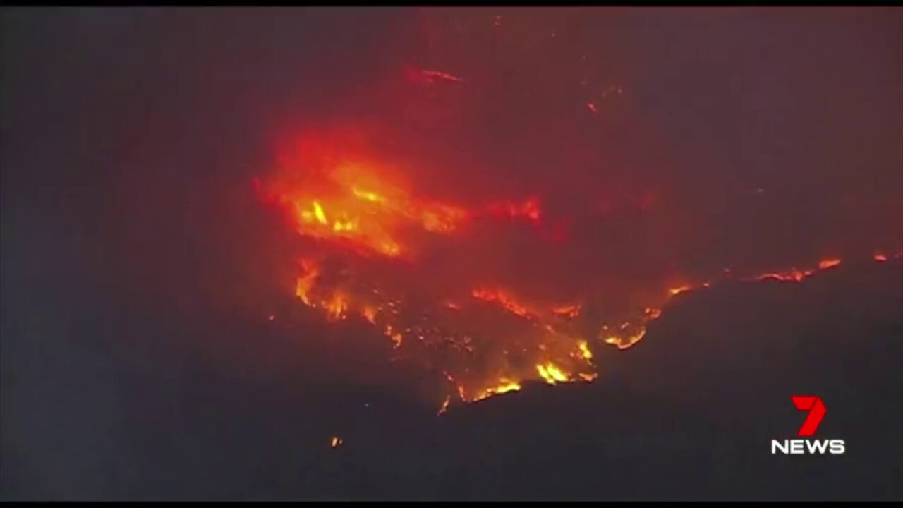 Nine people have been killed and thousands of people have been forced to leave their homes as wildfires spread across California.