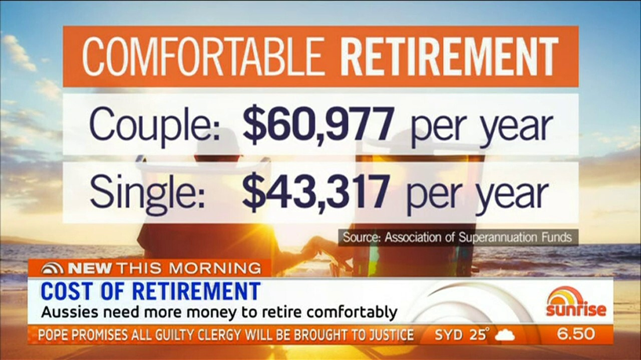 Aussies will need more savings to live comfortably in retirement
