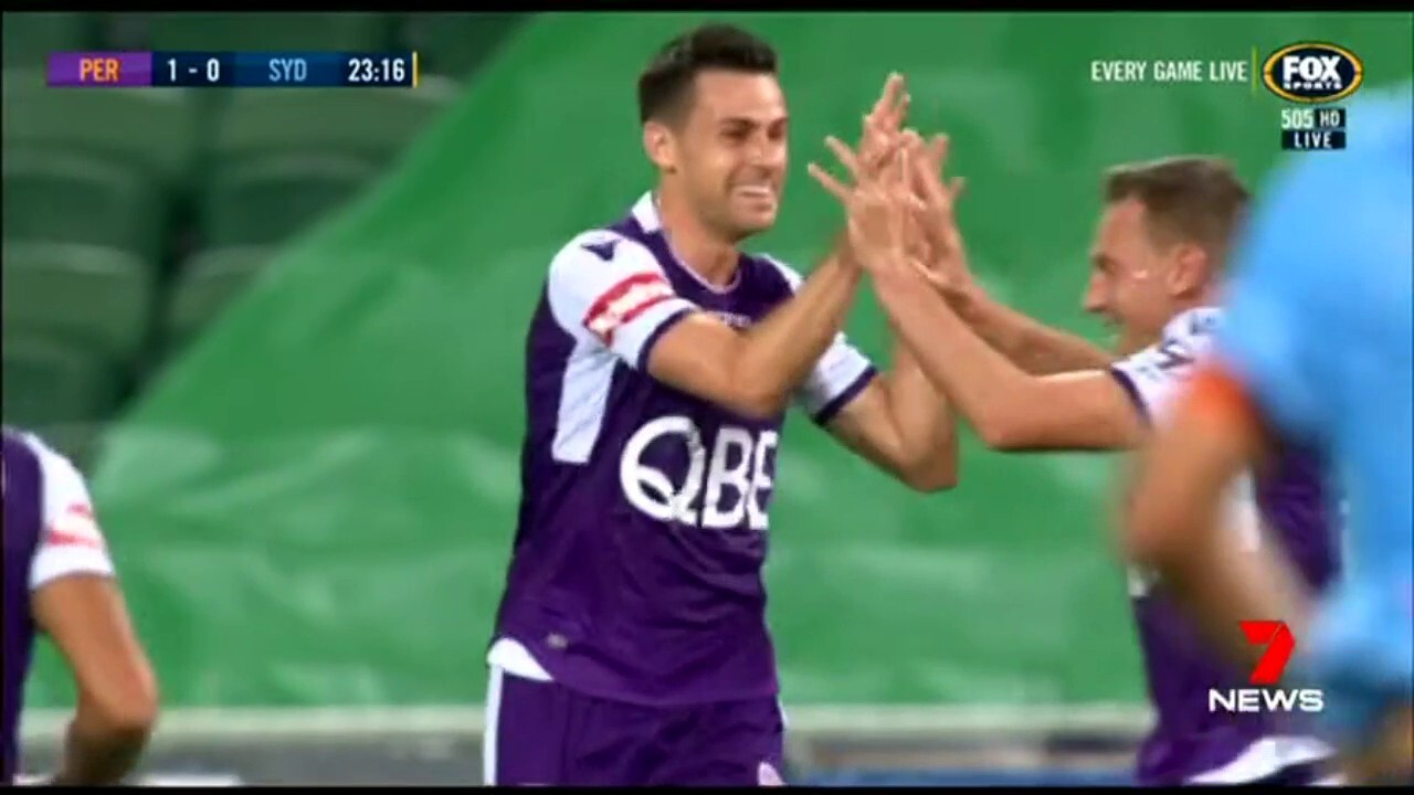 The Perth Glory are six points clear on top of the A league after a win over Sydney FC.