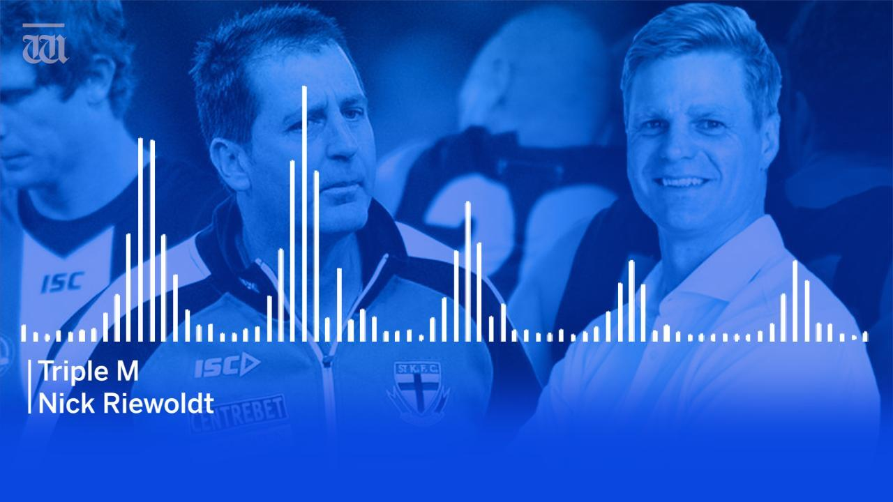 Nick Riewoldt has remembered Ross Lyon's best one liners during their time at St. Kilda.