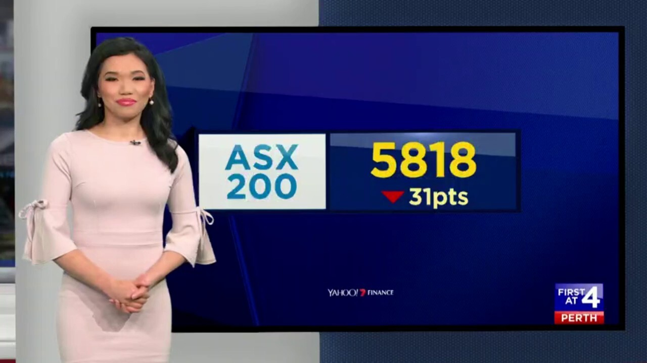 The ASX 200 closed 31 points down.