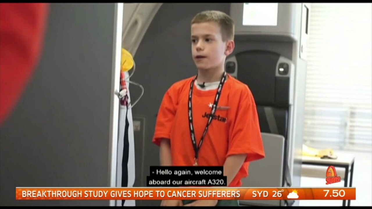 Plane enthusiast Beau spends the day with Jetstar.