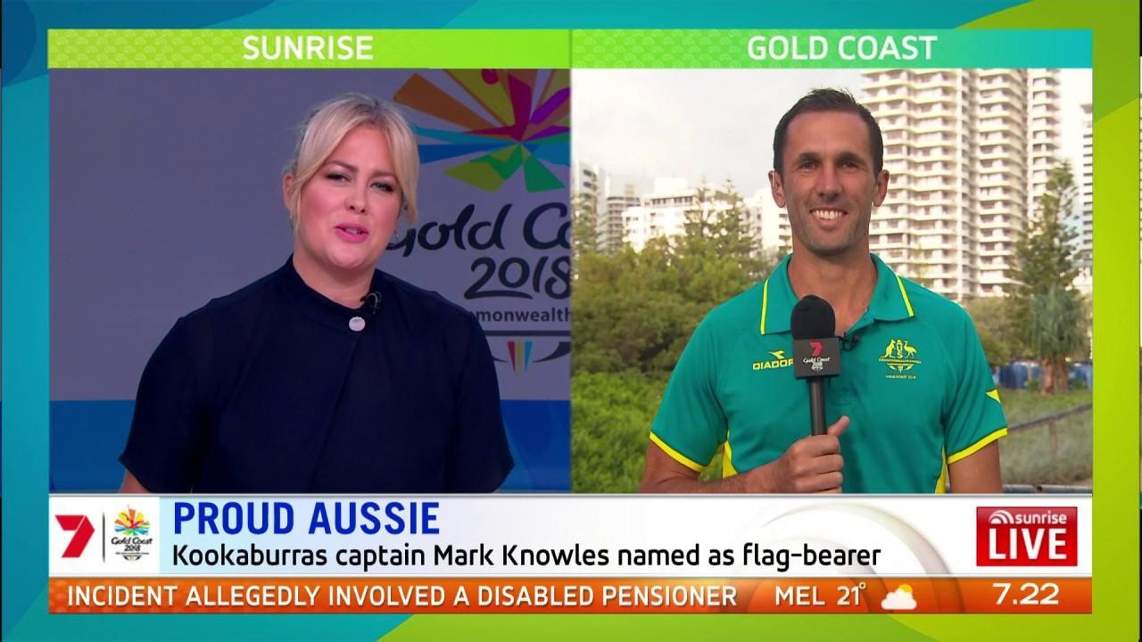 The field hockey legend will lead the Aussie out at the opening ceremony.