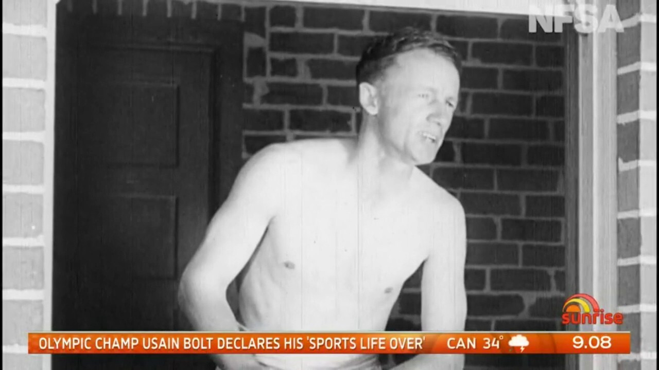 Footage has surfaced of Don Bradman making a cameo appearance in the 1936 film 'The Flying Doctor'