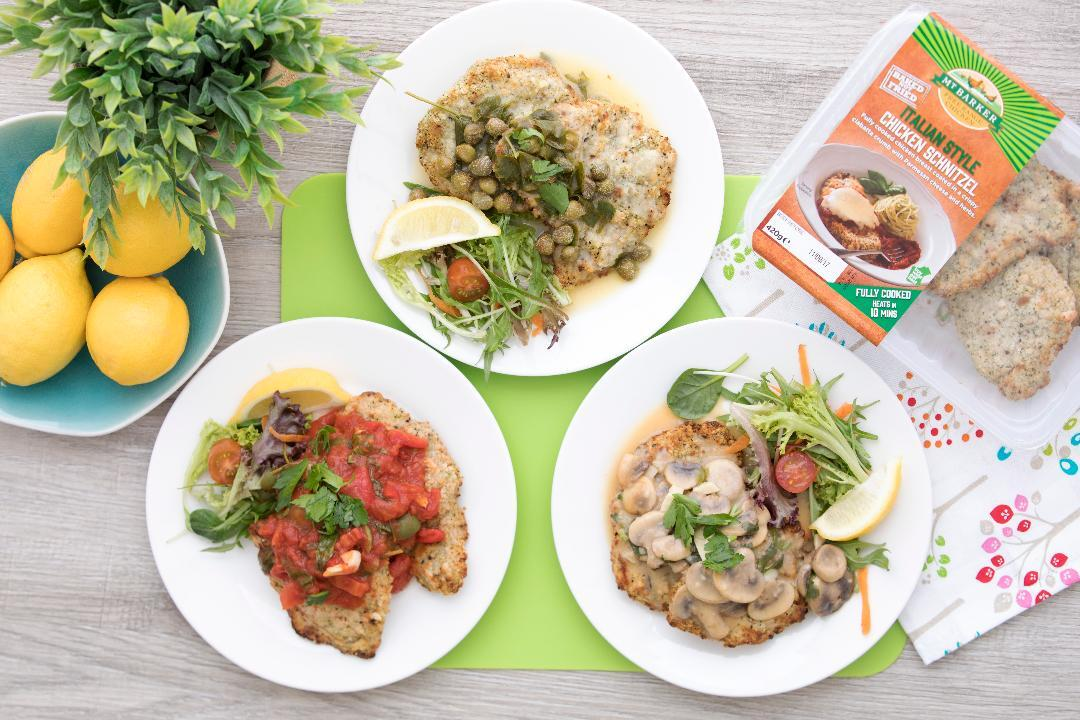 Piccata, Cacciatore and Funghi the perfect pairing with a chicken schnitty.