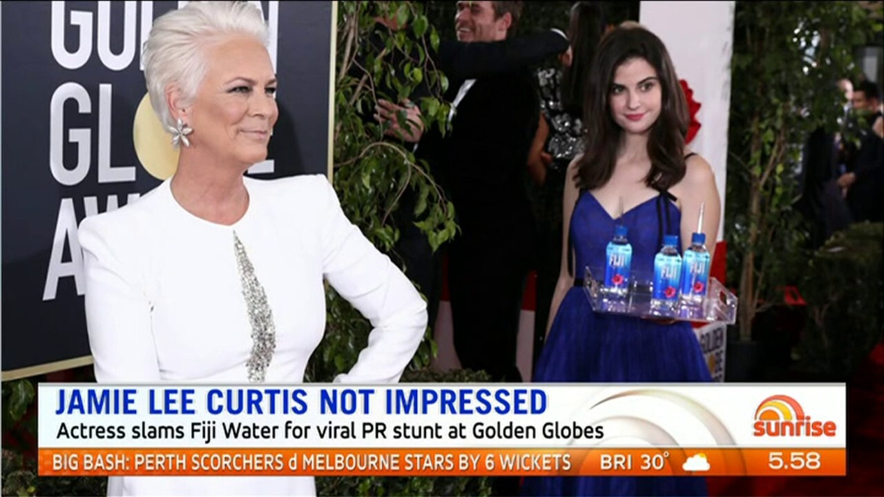 Jamie Lee Curtis has slammed Fiji Water for their PR stunt at the Golden Globes