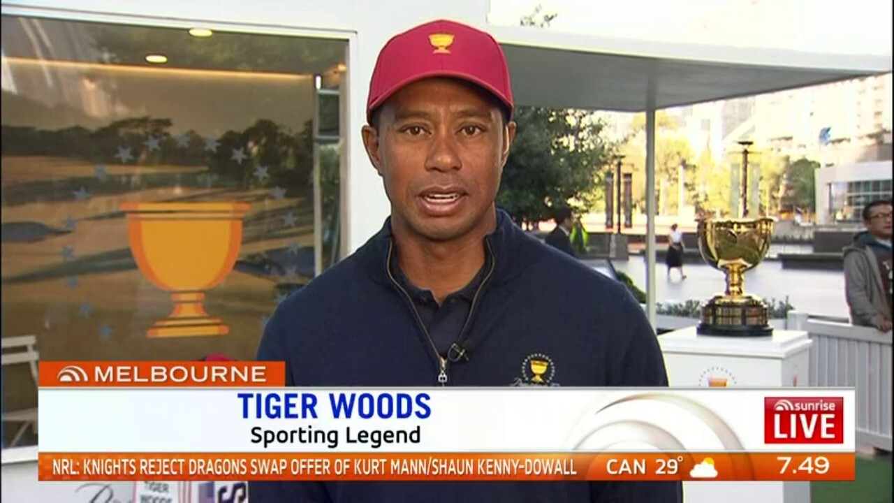 Tiger is back in Australia to prepare for the 2019 President's Cup