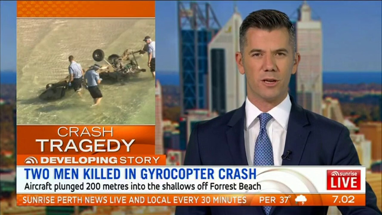 The aircraft plunged 200 metres into the shallows of Forrest Beach.