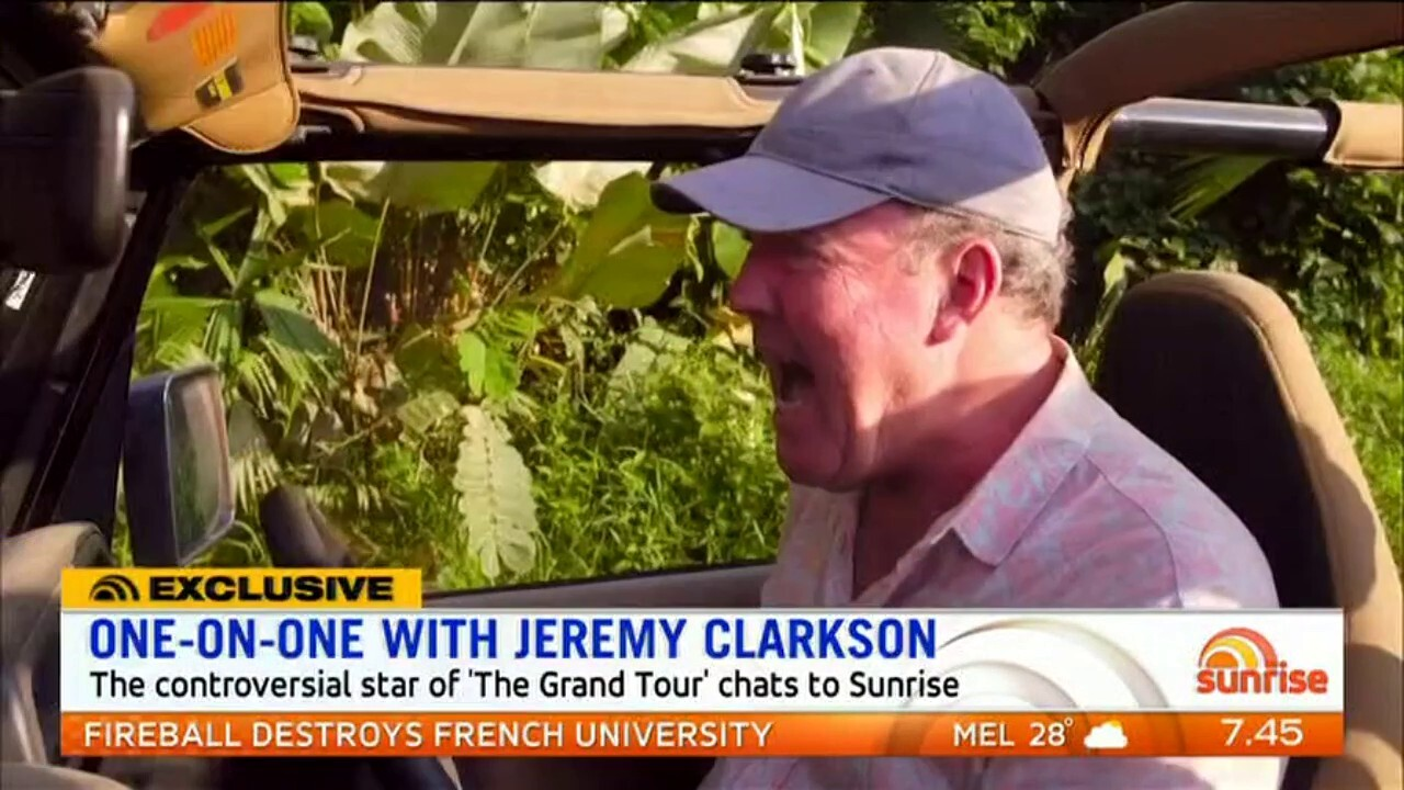 Jeremy Clarkson talks to Sunrise about 'The Grand Tour', a new series with James May and Richard Hammond