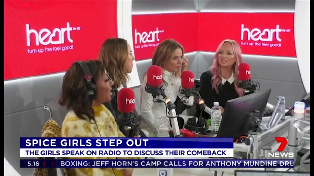 The Spice Girls appeared together to speak on radio for the first time since announcing their comeback tour