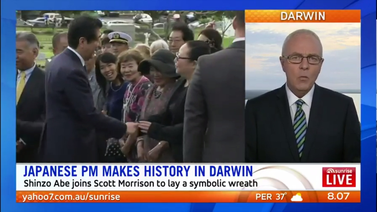 Shinzo Abe will be the first Japanese prime minister to visit Darwin since WWII