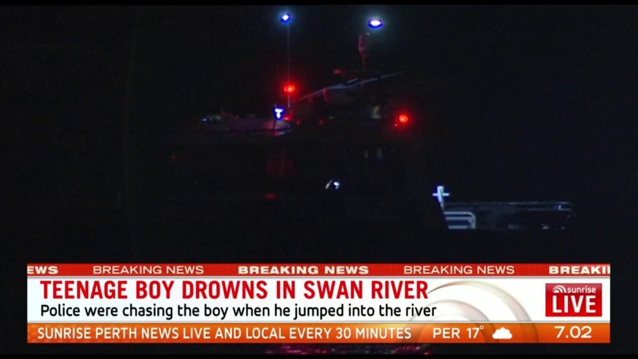 The body of a teenage boy was found in the water at Maylands late on Monday night after being chased by police