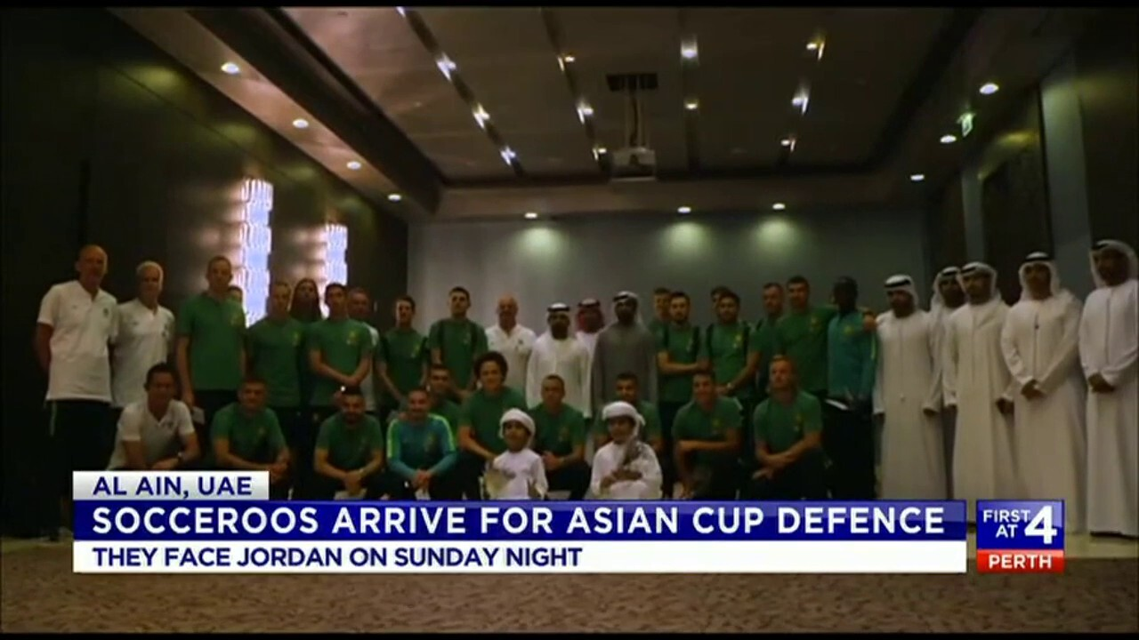 The Socceroos have arrived in the UAE to face Jordan on Sunday Night.