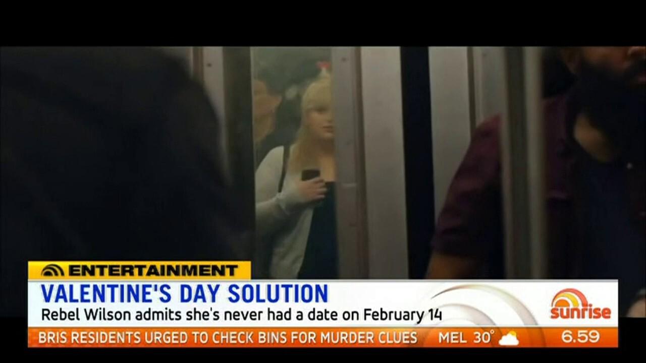 Rebel Wilson admits she's never had a date on February 14th.