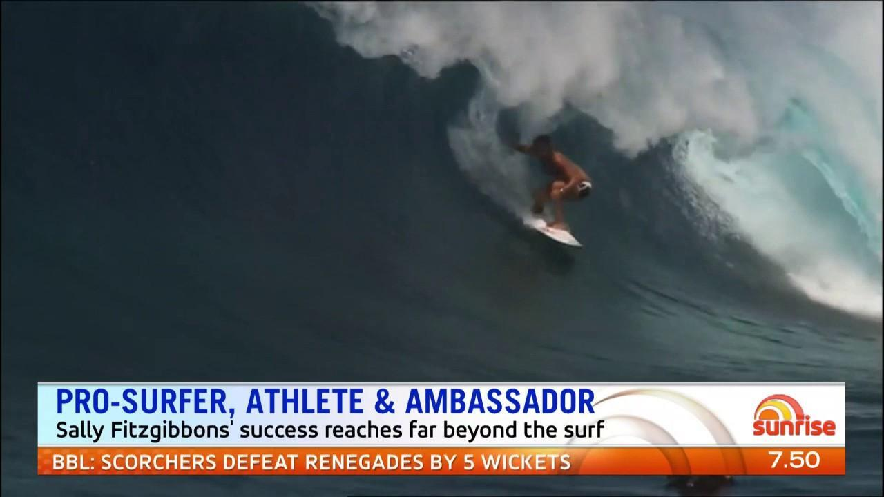 The surfer's passion goes beyond the waves.