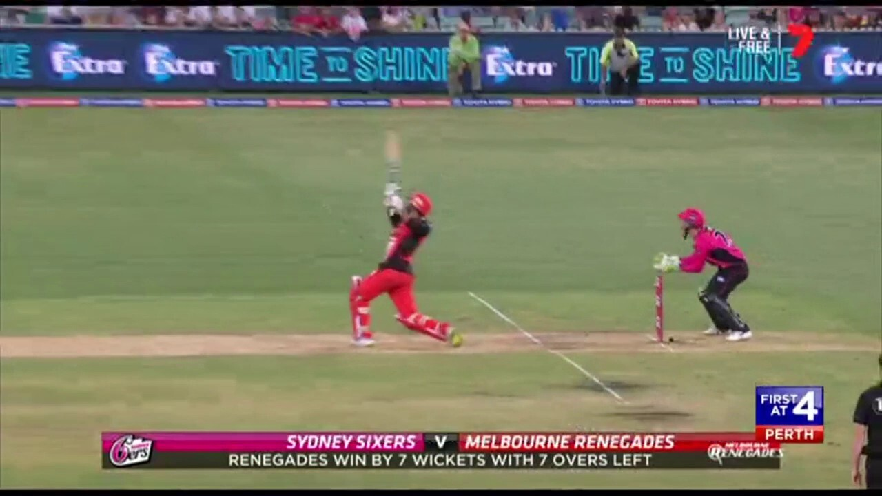 The Sydney Sixers have been crushed by the Renegades after their victory with seven overs to spare.