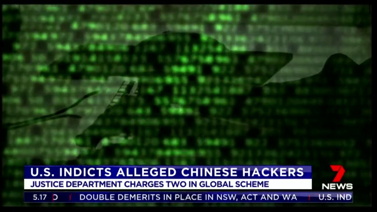 US authorities have charged two men accused of conducting a global hacking campaign with Australia among the list of countries allegedly targeted