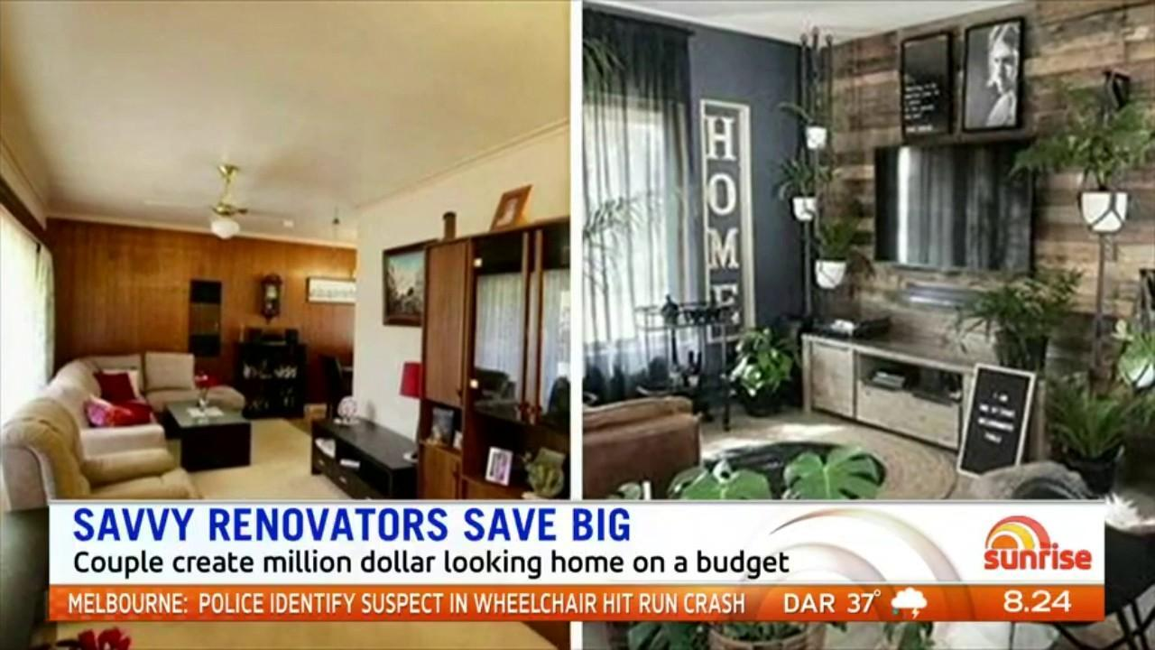 An Adelaide couple have transformed their home into a designer abode for just $12,000