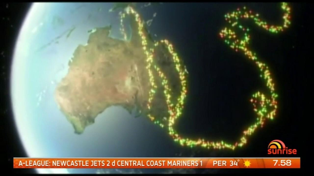 Santa's flight path to Australia has been revealed