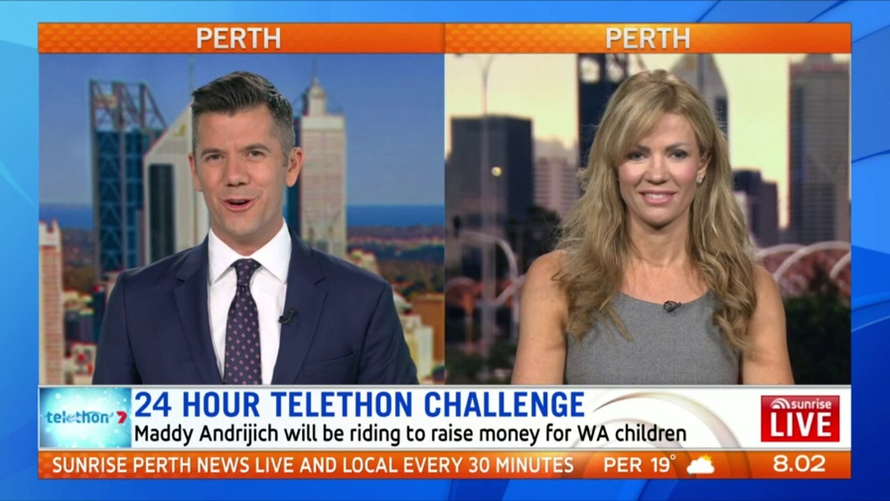 Maddy Andrijich will be riding a bike for 24 hours to raise money for WA children