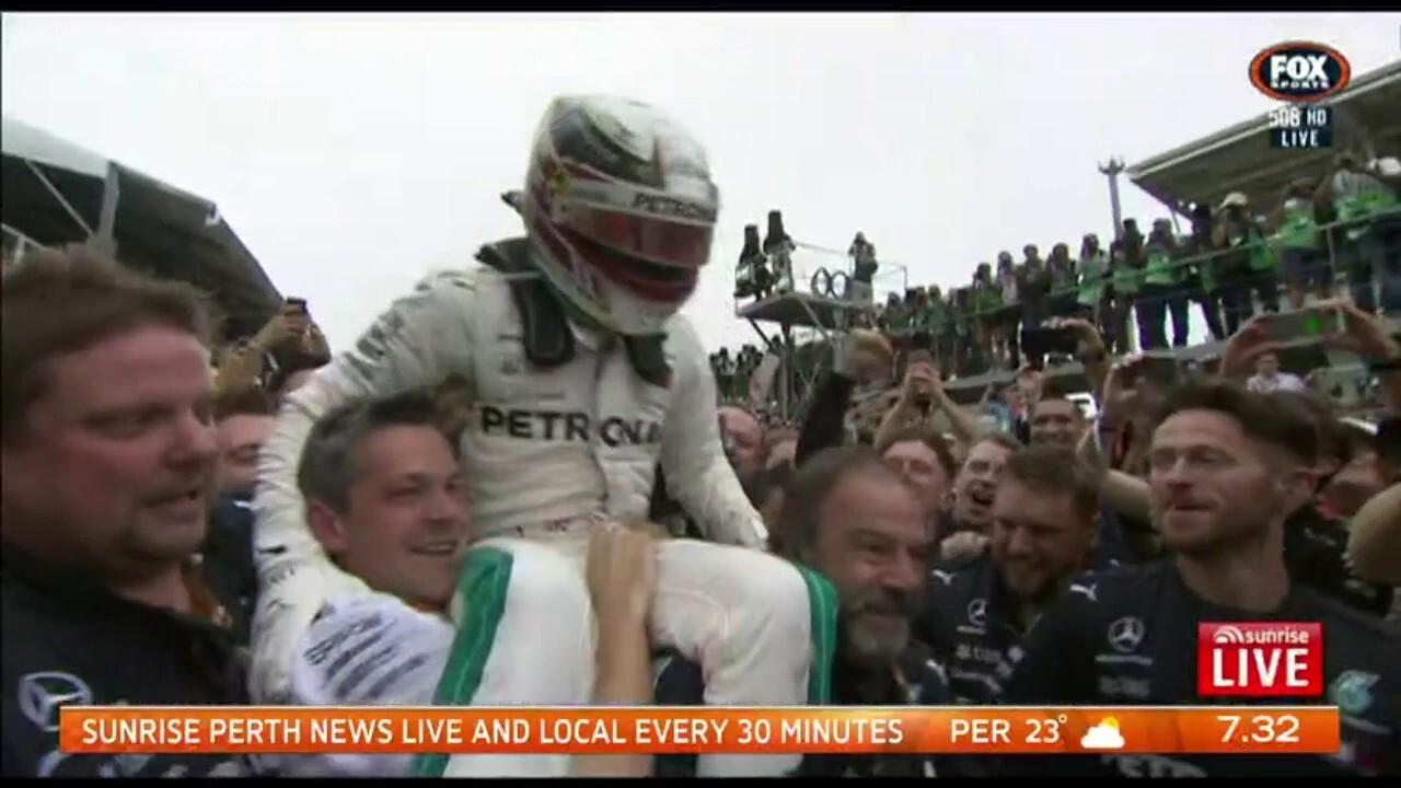 Lewis Hamilton has won the Brazilian Grand Prix, his tenth win of the season