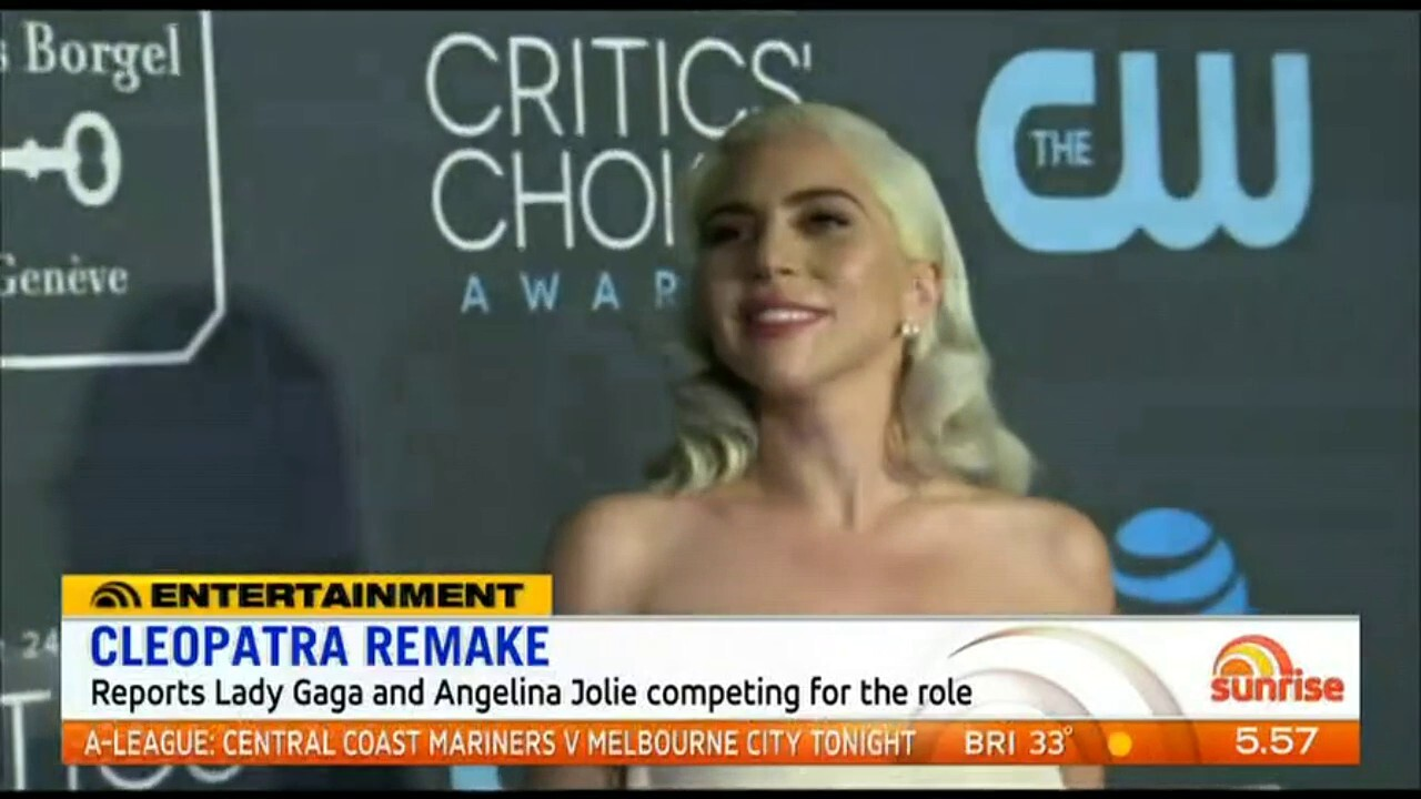 Reports Lady Gaga and Angelina Jolie are competing for the legendary role of Cleopatra