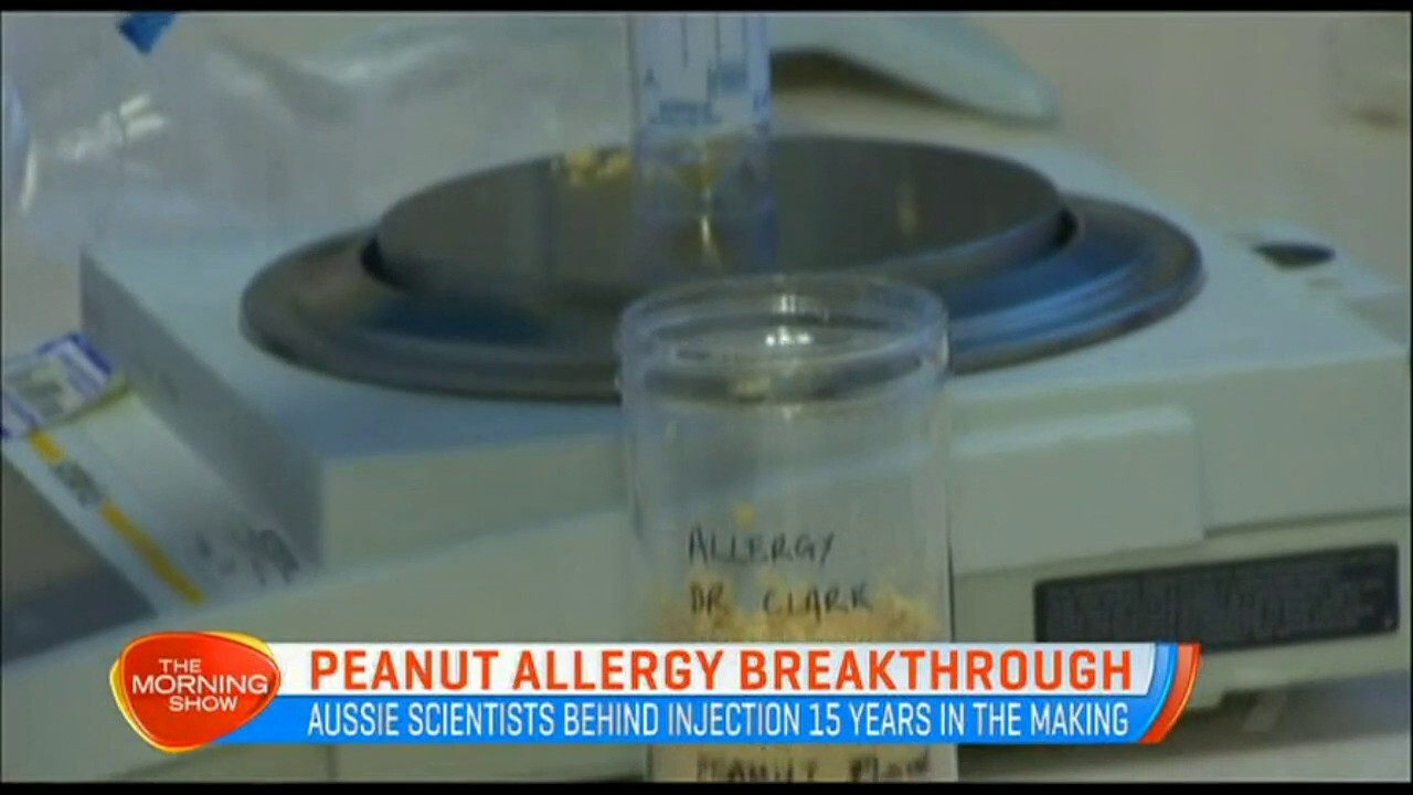 Aussie scientists are behind injections that are 15 years in the making that will help people with strong peanut allergies.