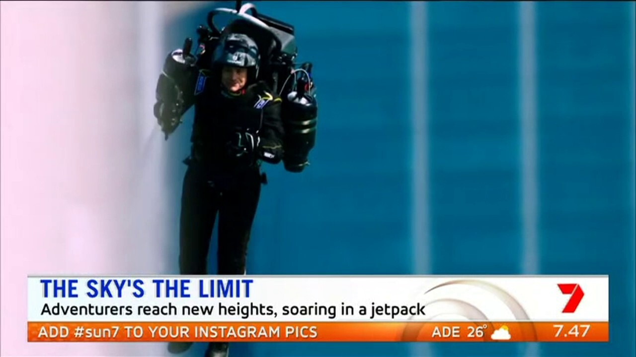 A new and advanced jetpack is allowing adventurers to reach new heights and participate in a world first jetpack race