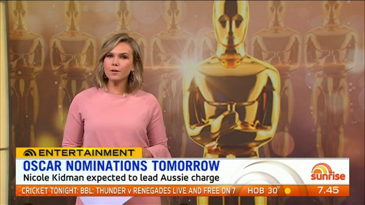 Nicole Kidman is expected to lead the Aussie charge.