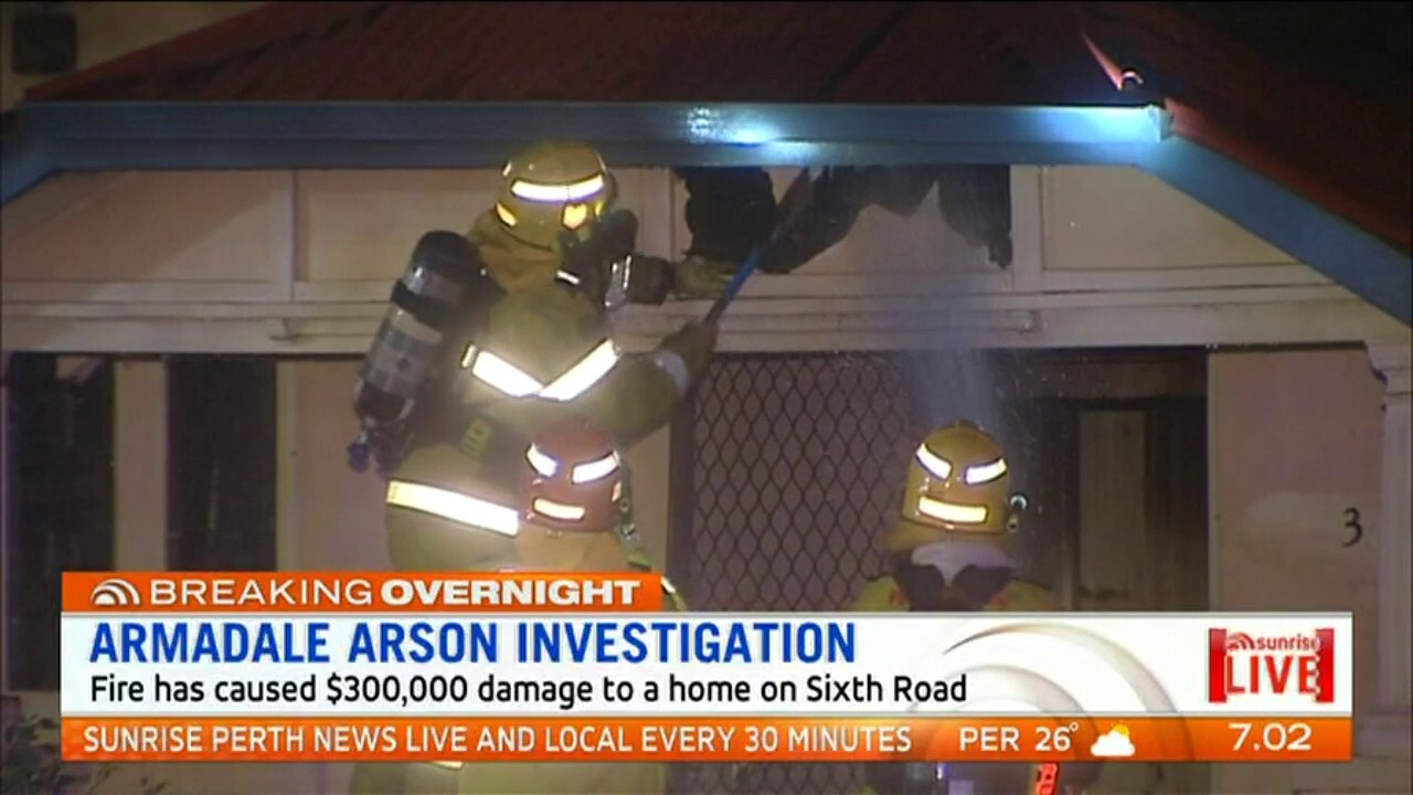 A suspicious fire has caused $300,000 damage to a home on Sixth Road in Armadale in Perth's South East