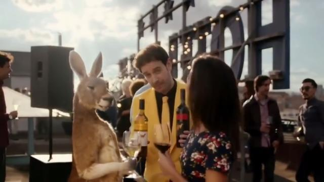 What better way to sell Australian wine to the United States than with a talking kangaroo.