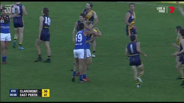 Claremont overcame a spirited second-half fightback from East Perth to prevail by 28 points.