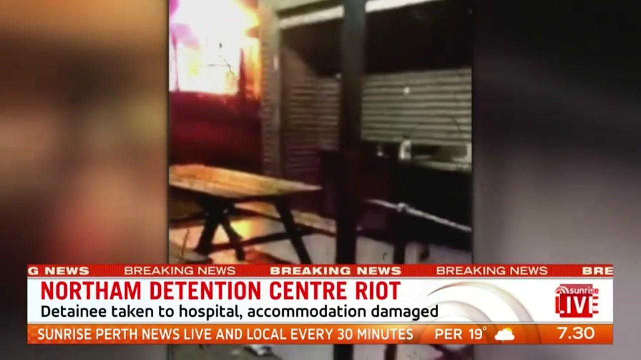 An asylum seeker has described the chaos inside the detention centre on Sunday night when detainees set fire to their units during a riot