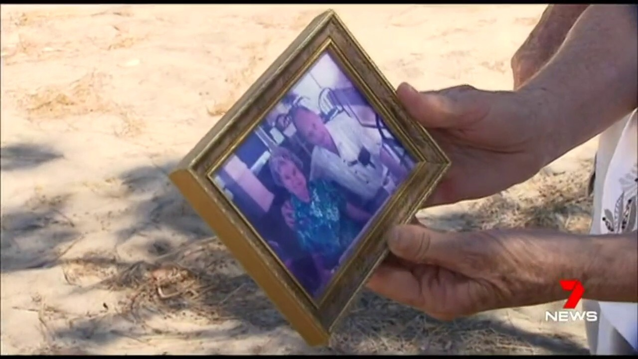 The family were baffled over a roadside memorial that had been repeatedly damaged by vandals.