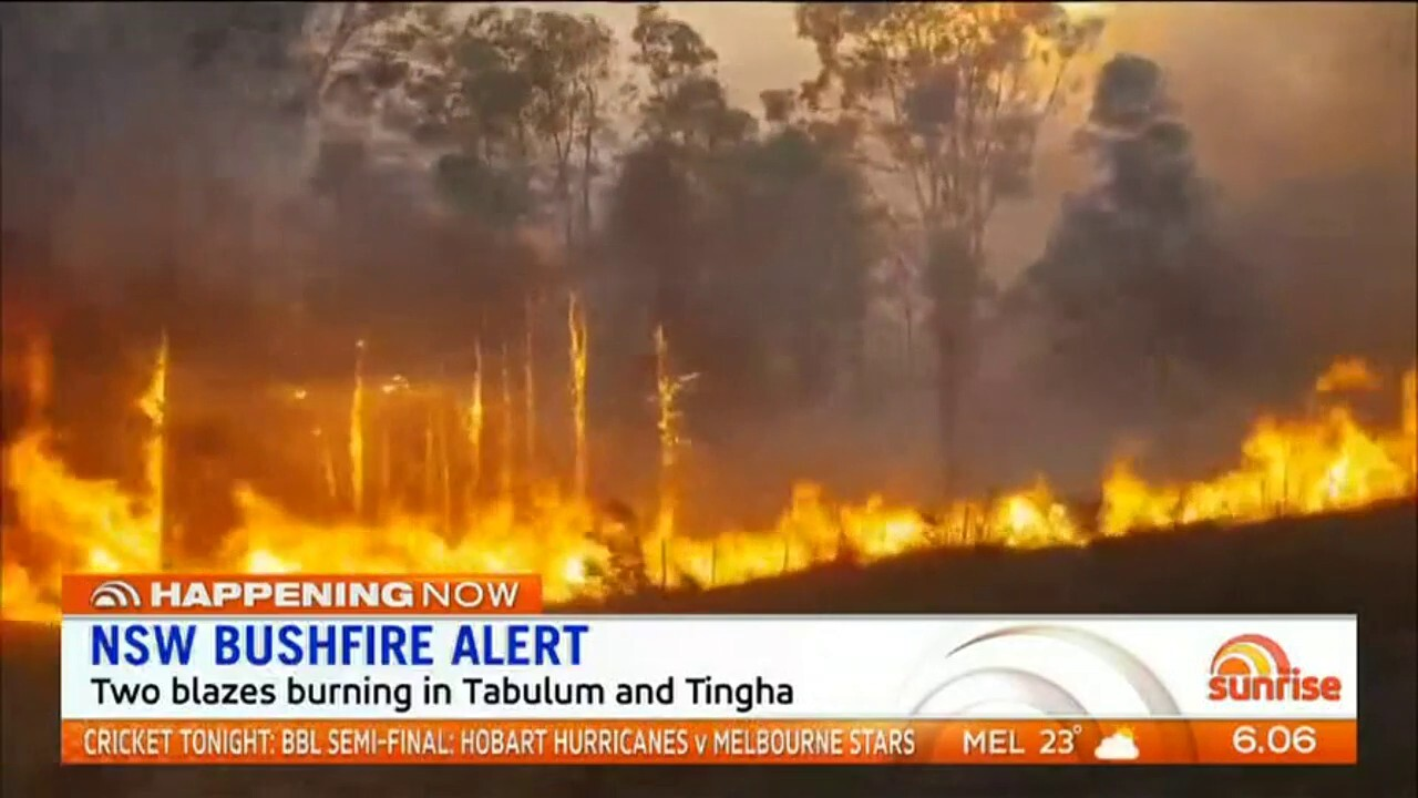 Two blazes are continuing to burn across northern NSW.