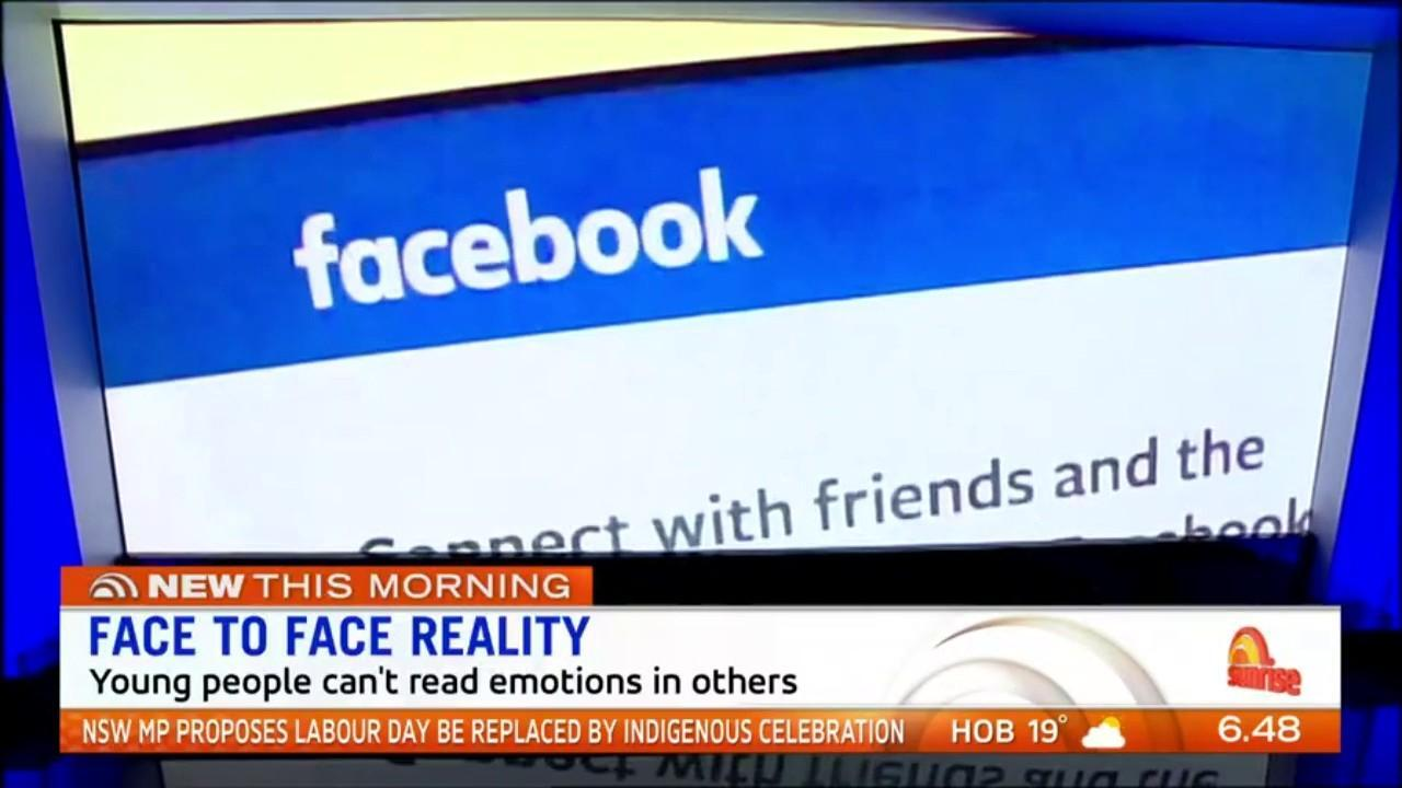 A new study has found young people who have grown up in the social media can't read emotions in others