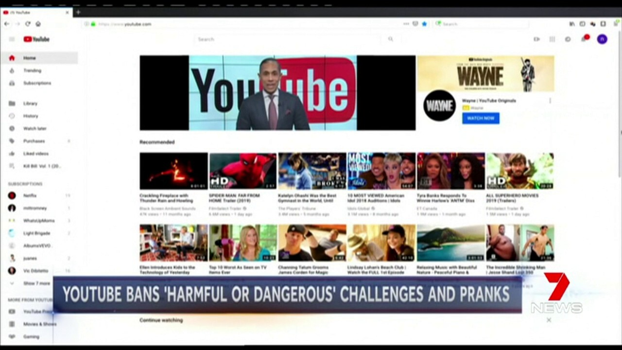 Dangerous YouTube stunts may be a thing of the past with the site now banning posting of them on its site.