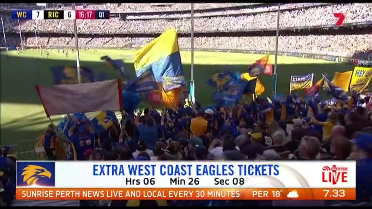Extra tickets for the Eagles qualifying final against Collingwood on Saturday will be released at 2pm today