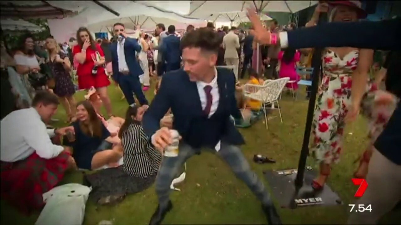 Take a look at what happens at Flemington after the race that stops the nation