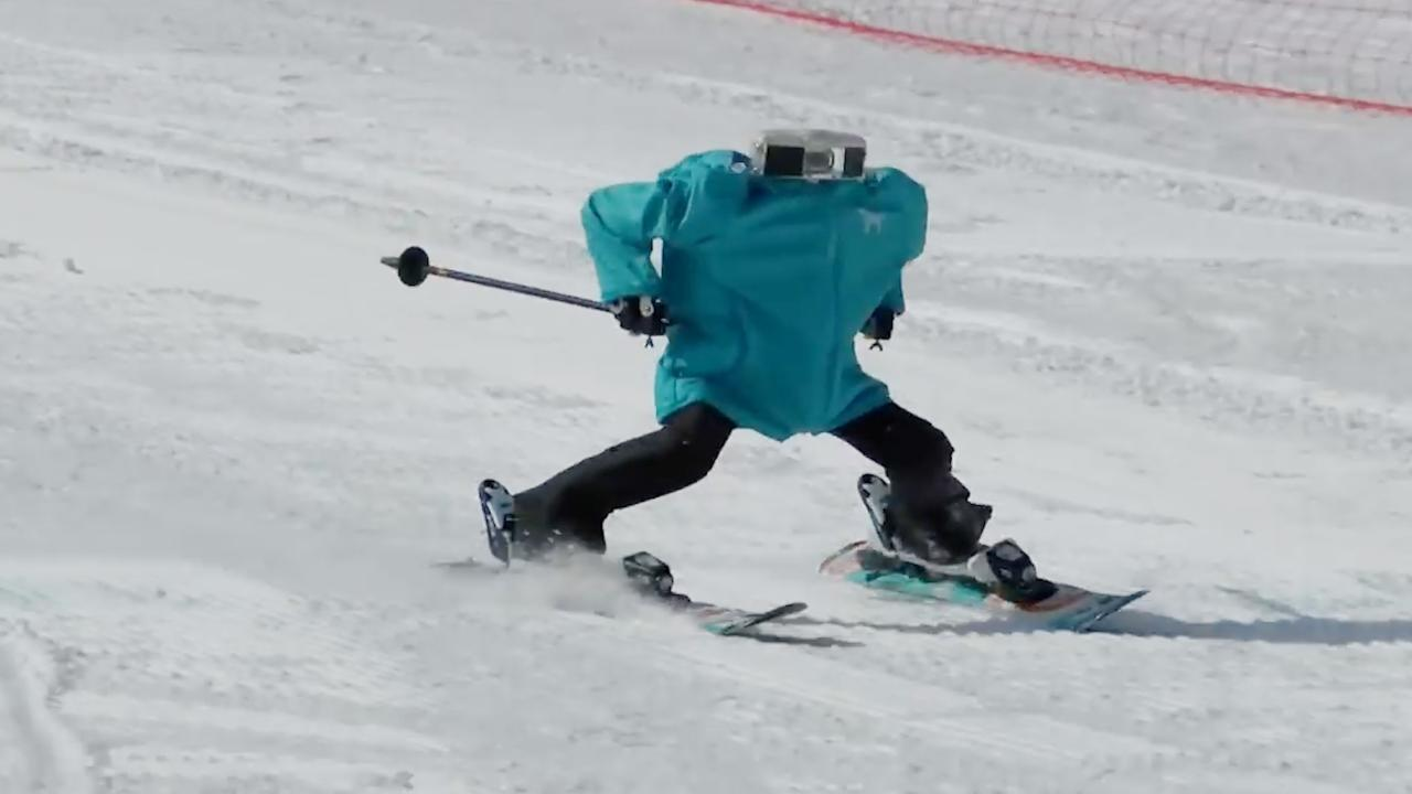Eight humanoid robots competed in a ski robot challenge just outside PyeongChang.