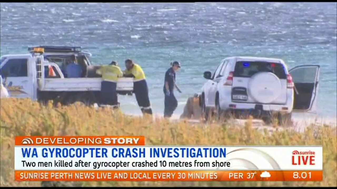 Investigations continue into the gyrocopter crash off the coast of WA that claimed the lives of two men.