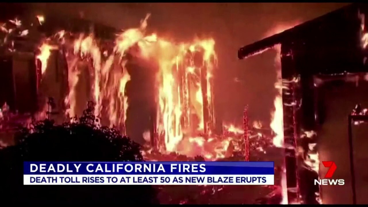 The death toll in the Californian wildfires has now reached at least 53 people.