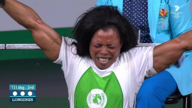 Nigeria's dominance in the para powerlifting continues as Oyema claims gold in the women's lightweight category.