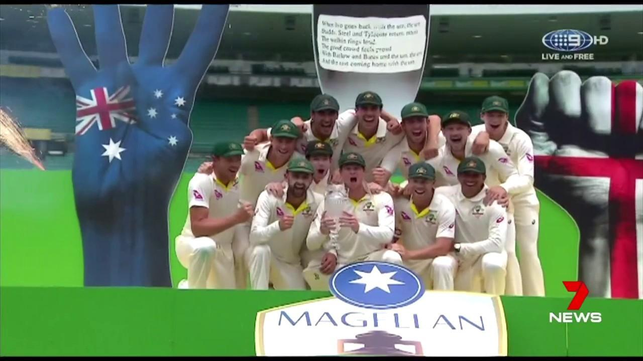 Australia won the Ashes series 4-0 after smashing England at the SCG.