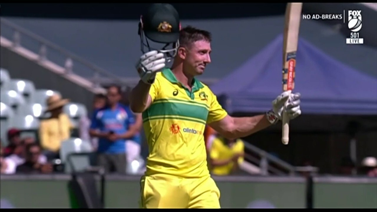 Shaun Marsh was dropped from the test team but was a great success in the second ODI against India.