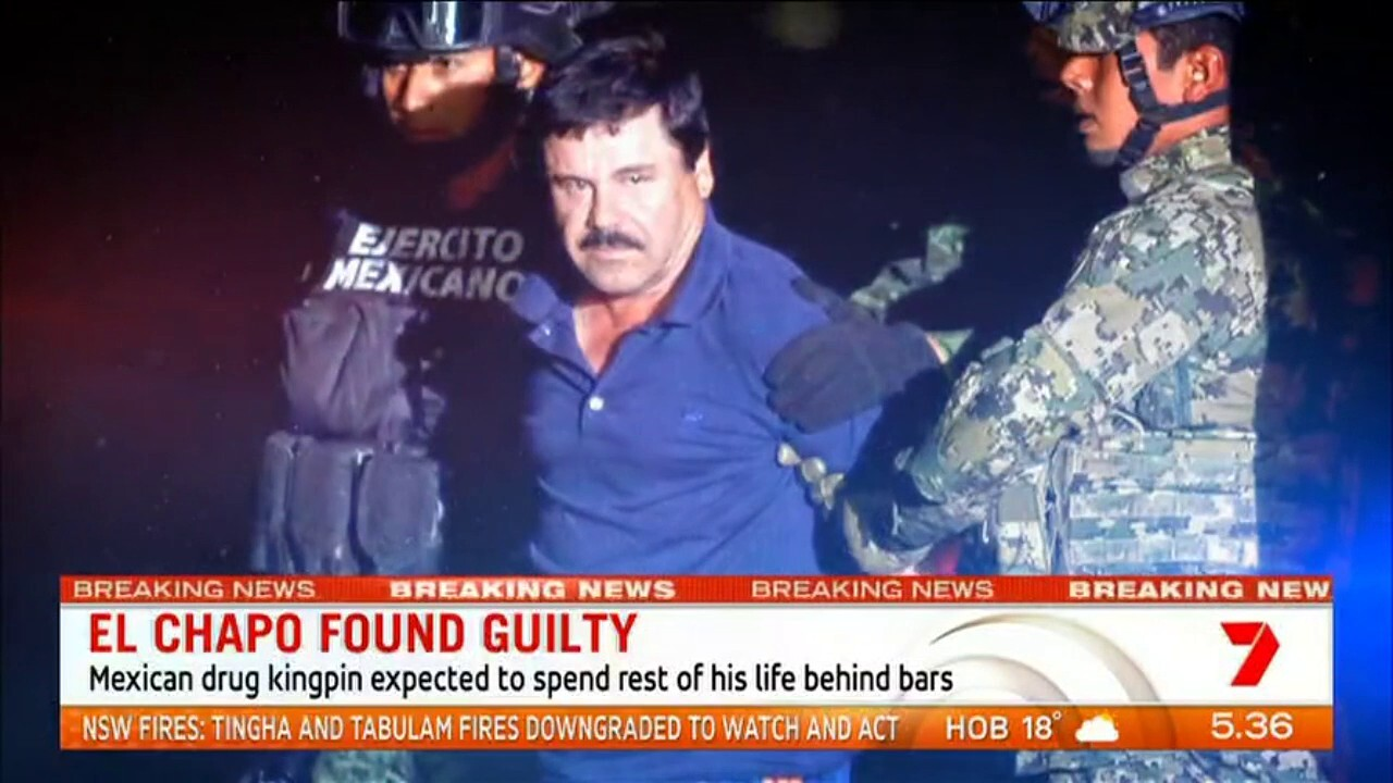 Mexican drug kingpin El Chapo is expected to spend the rest of his life behind bars after he was found guilty of all charges in his role of running an international drug cartel