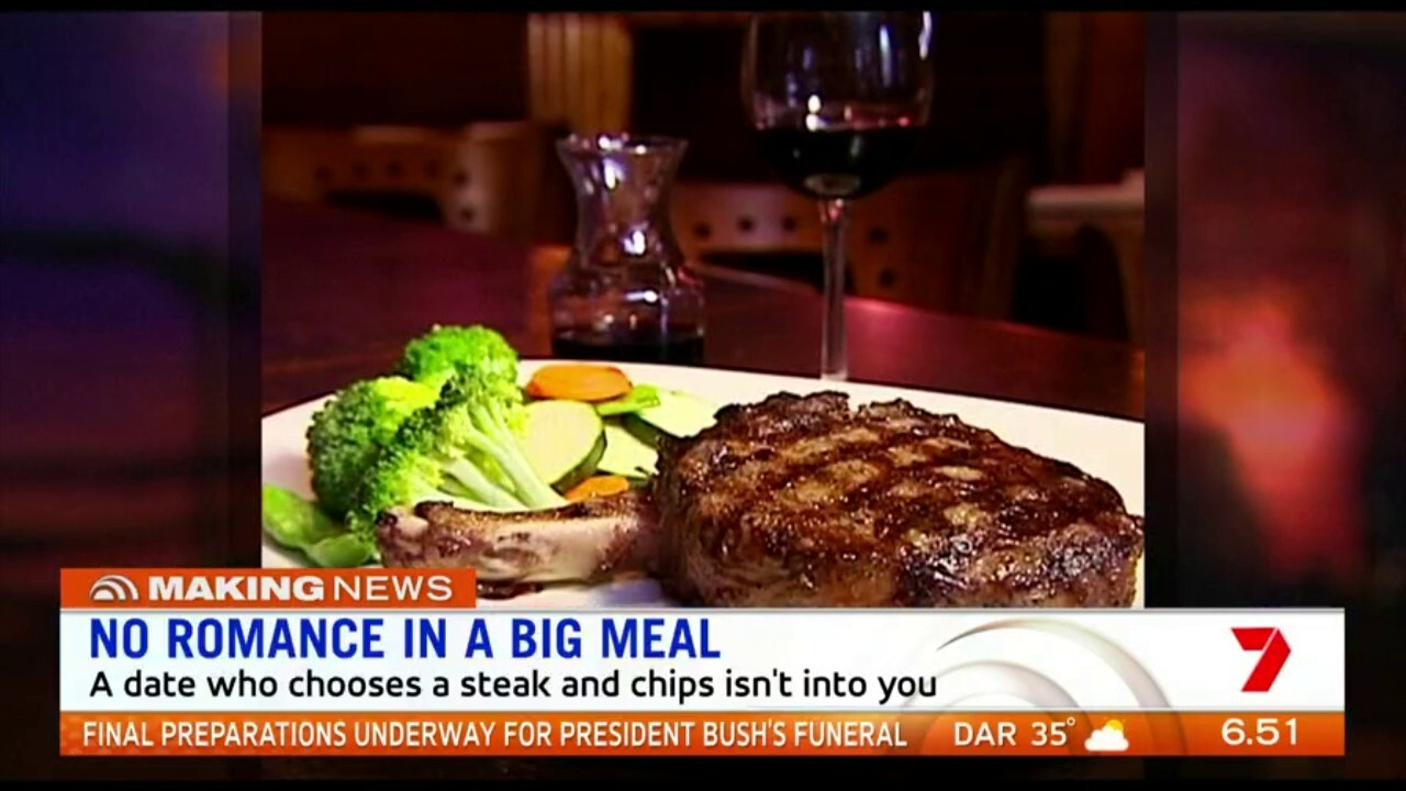 New research suggests someone who chooses a steak and chips on a date isn't a prospective partner