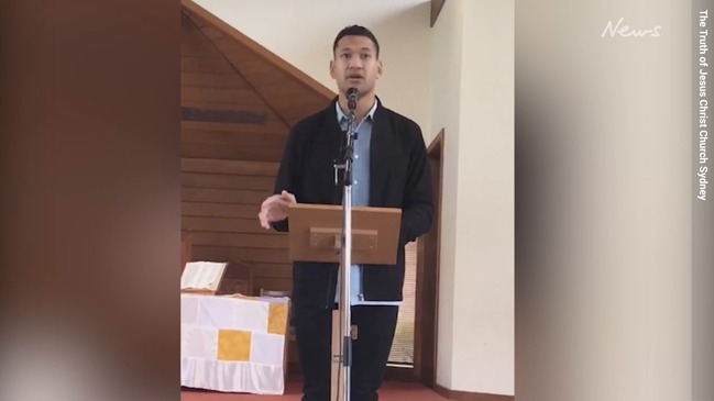 Israel Folau church believes most Christians going to hell