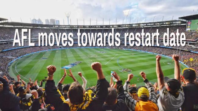 AFL moves towards restart date